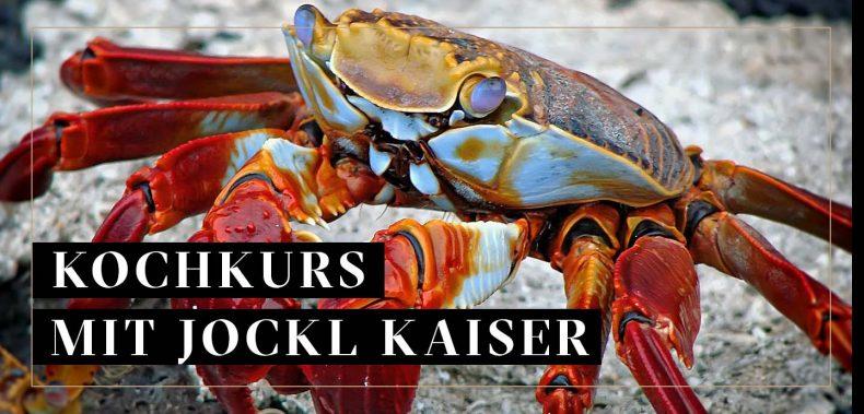 Krebs für Kochkurs Spezielle Meeresfrüchte
