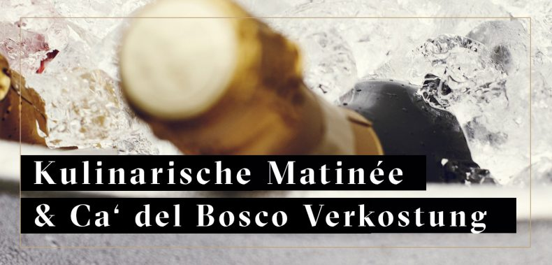 Ca' del Bosco Flasche im Eis für Matinee Jockl Kaiser