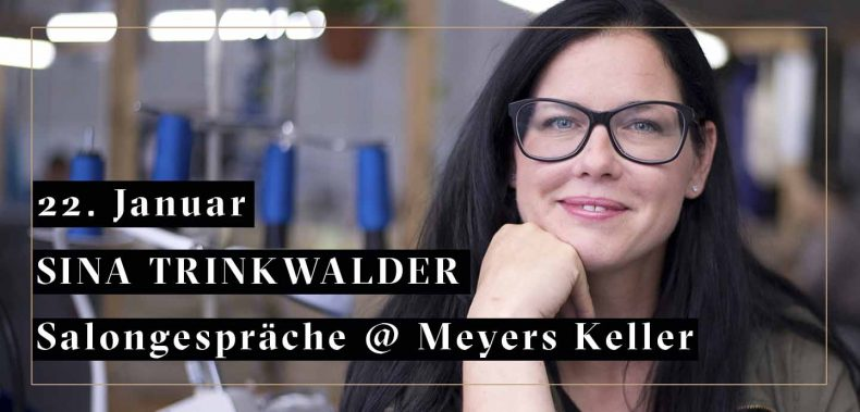 Sina TRinkwalder auf Meyers Keller Salongespräche