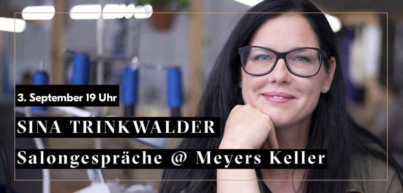 Sina TRinkwalder Portrait für Ankündigung Salongespräche auf Meyers Keller