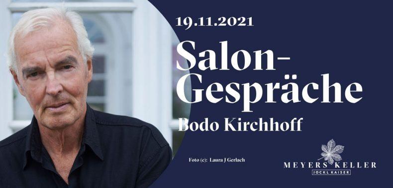 Grafik Einladung Salongespräch Bodo Kirchhoff Meyers Keller
