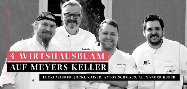 Bild der vier Wirtshausbuam: Lucki Maurer, Alex Huber, Anton Schmaus und Jockl Kaiser