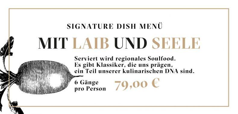 Gutschein Mit Laib und Seele Signature Dish Menü Jockl Kaiser