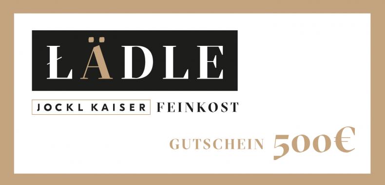 Gutschein für lokalen Laden Jockl Kaiser 500 €