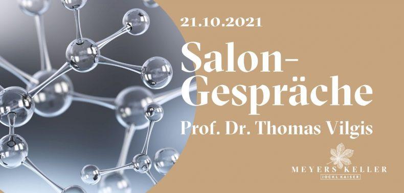 Einladungsgrafik Salongesrpäch Prof Vilgis Meyers Keller